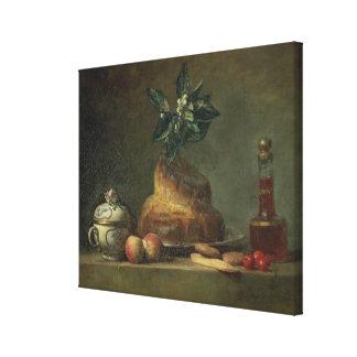 The Brioche or The Dessert, 1763 (oil on canvas) Canvas Print