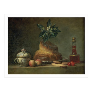The Brioche or The Dessert, 1763 (oil on canvas) Postcard