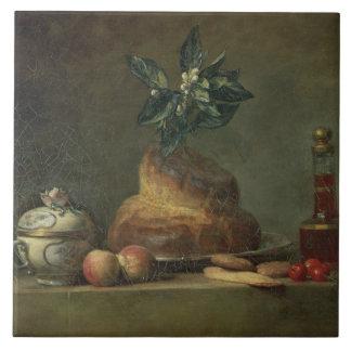 The Brioche or The Dessert, 1763 (oil on canvas) Tile