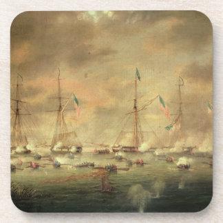 The British and American Fleets Engaged on Lake Bo Coaster