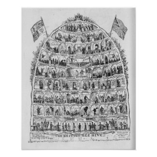 The British Beehive, 1867 Poster