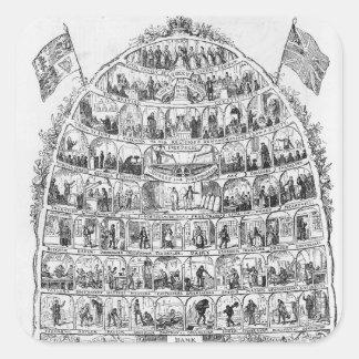 The British Beehive, 1867 Square Sticker