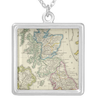 The British Isles after their church Silver Plated Necklace