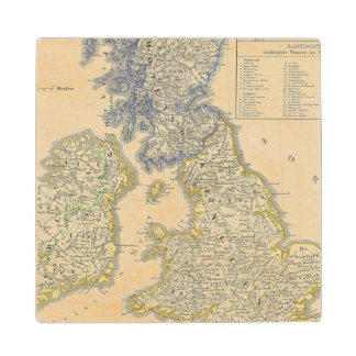 The British Isles from 1066 to 1485 Wood Coaster