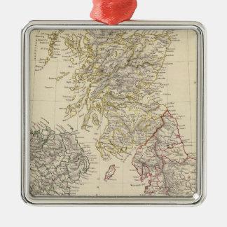 The British Isles Silver-Colored Square Decoration