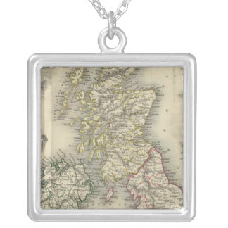 The British Isles Silver Plated Necklace