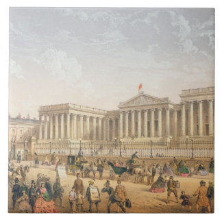 The British Museum, c.1862 (colour litho) Large Square Tile