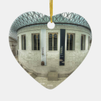 The British Museum in Summer Ceramic Heart Decoration