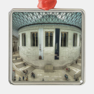 The British Museum in Summer Silver-Colored Square Decoration