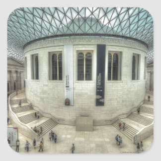 The British Museum in Summer Square Sticker