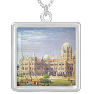 The British Raj Great Indian Peninsular Terminus Silver Plated Necklace