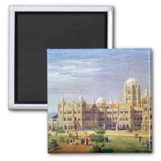 The British Raj Great Indian Peninsular Terminus Square Magnet
