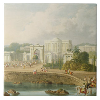 The British Residency at Hyderabad in 1813, from V Large Square Tile