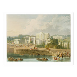 The British Residency at Hyderabad in 1813, from V Postcard