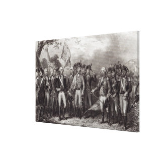 The British Surrendering their Arms Canvas Print