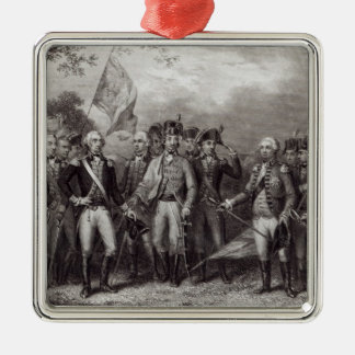 The British Surrendering their Arms Christmas Ornament