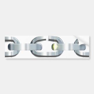 The Broken Link Bumper Sticker
