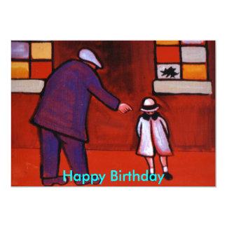 THE BROKEN WINDOW (HAPPY BIRTHDAY) 13 CM X 18 CM INVITATION CARD