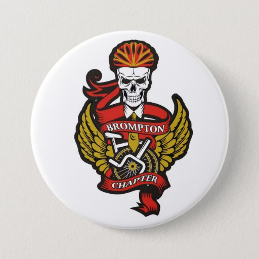 'The Brompton Chapter Pin Badge (folding Bike)