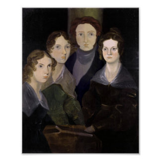 The Bronte Family Pillar Portrait Restoration Poster