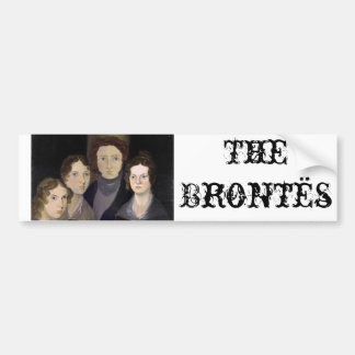 The Brontës ~ Restored Pillar Portrait Bumper Sticker