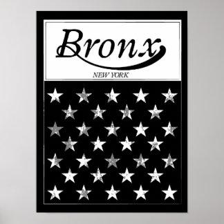 The Bronx | New York American Flag Poster