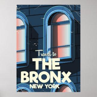 The Bronx New York City travel poster
