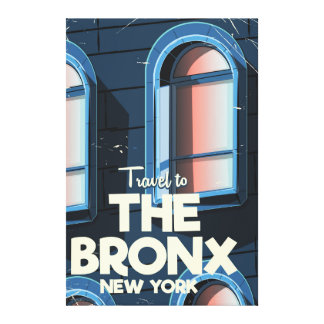 The Bronx New York City travel poster Canvas Print