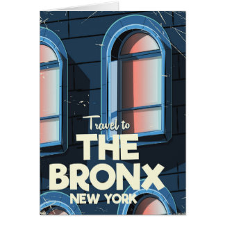 The Bronx New York City travel poster Card
