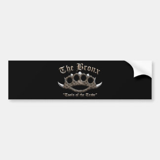 The Bronx - Spiked Brass Knuckles Bumper Sticker