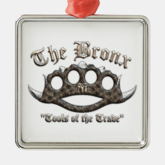 The Bronx - Spiked Brass Knuckles Ornament