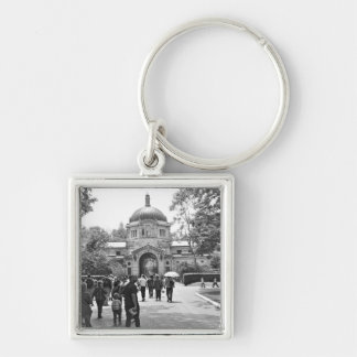 The Bronx Zoo Entrance Silver-Colored Square Key Ring