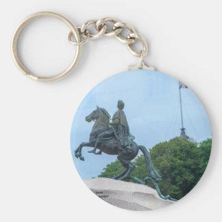 The Bronze Horseman Basic Round Button Key Ring