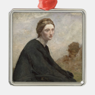 The brooding girl, c.1857 christmas ornament