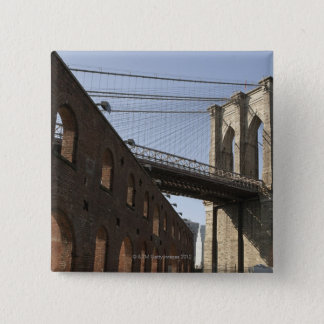 The Brooklyn Bridge 15 Cm Square Badge