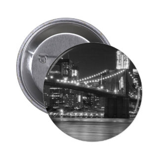 The Brooklyn Bridge - Black and White Buttons