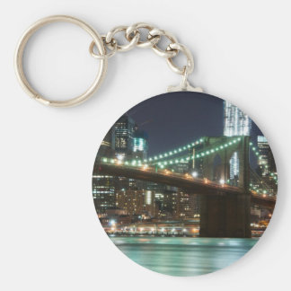 The Brooklyn Bridge - Color Basic Round Button Key Ring