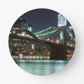 The Brooklyn Bridge - Color Round Clock