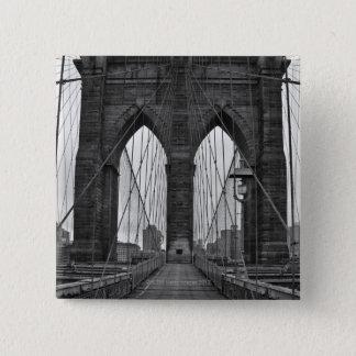 The Brooklyn Bridge in New York City 15 Cm Square Badge