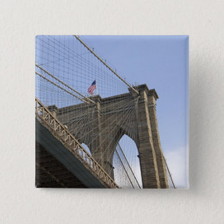 The Brooklyn Bridge in New York City, New 15 Cm Square Badge