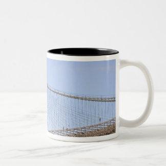 The Brooklyn Bridge in New York City, New 2 Two-Tone Coffee Mug