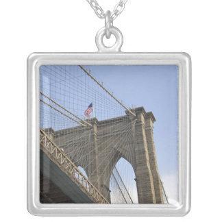 The Brooklyn Bridge in New York City, New Square Pendant Necklace