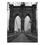 The Brooklyn Bridge in New York City Postcard