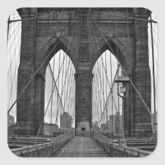 The Brooklyn Bridge in New York City Square Sticker