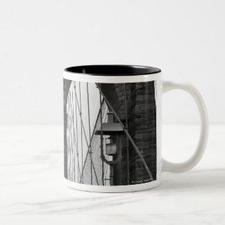 The Brooklyn Bridge in New York City Two-Tone Coffee Mug