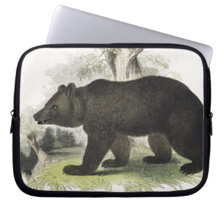 The Brown Bear, educational illustration pub. by t Laptop Sleeve