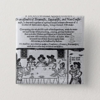 The Brownist Conventicle', published in 1641 15 Cm Square Badge