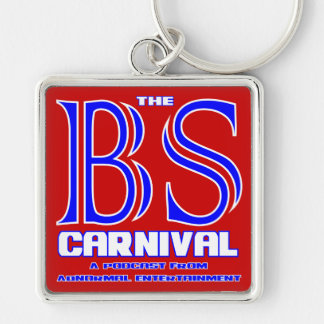 The BS Carnival Silver-Colored Square Key Ring
