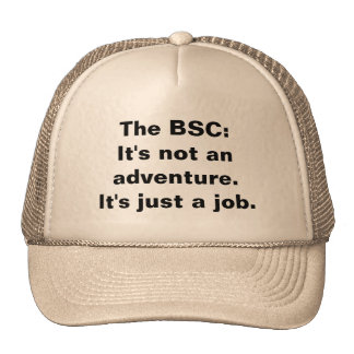 The BSC:It's not an adventure.It's just a job. Mesh Hat