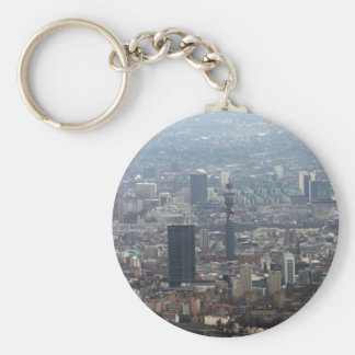 The BT Tower Basic Round Button Key Ring